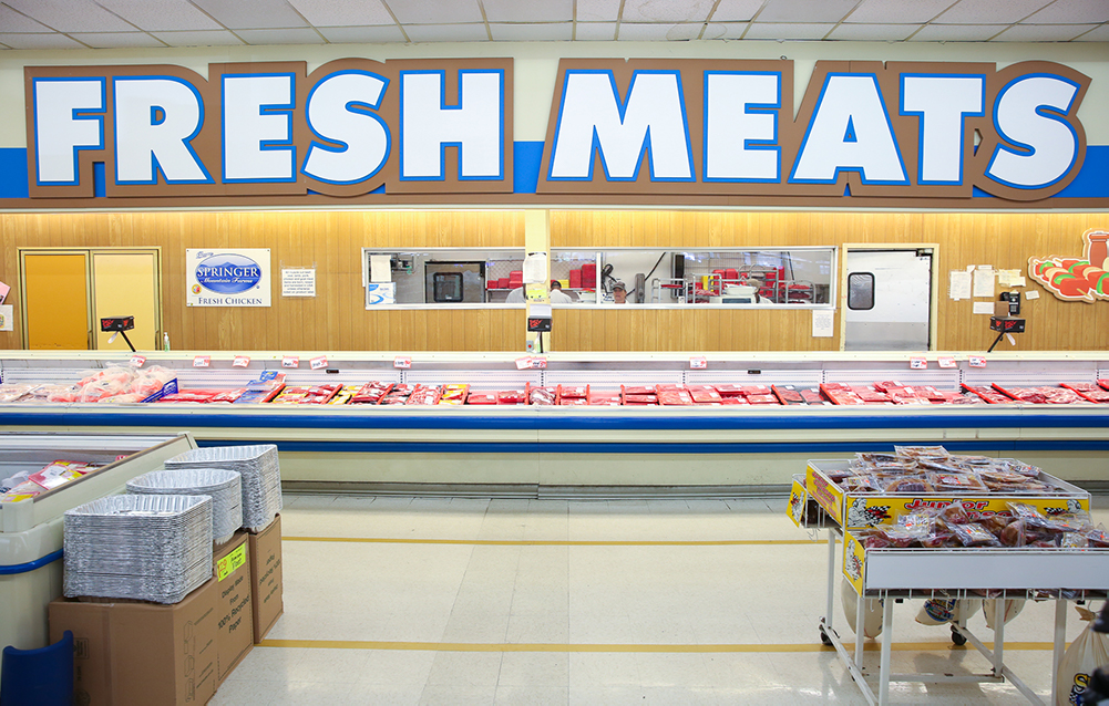 Fresh Meats Sign